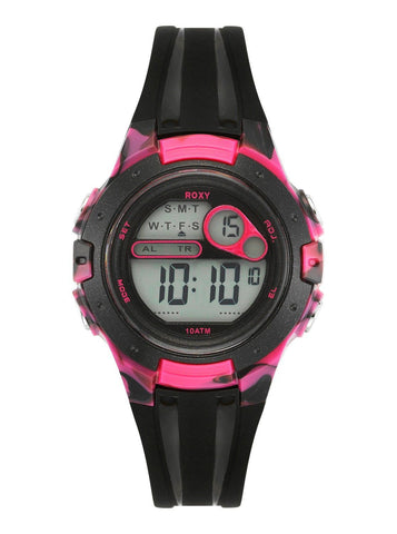 Roxy The Tour Women´s Digital Chronograph Strap Watch - Black/Pink - Surf' in Monkeys School & Shop