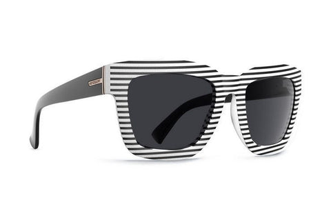 Vonzipper Juice Sunglasses - White Strip/Grey - Surf' in Monkeys School & Shop