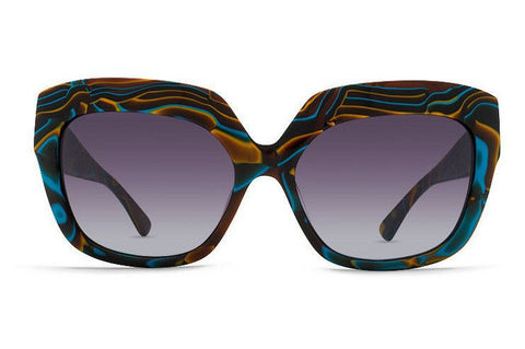 Vonzipper Poly Sunglasses - Color Swirl/Brown Blue Gradient - Surf' in Monkeys School & Shop