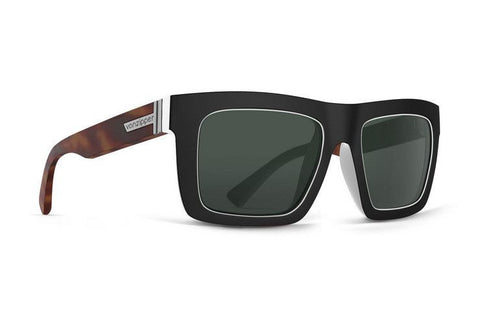 Vonzipper Donmega Sunglasses - Black-White Tortoise/Vintage Grey - Surf' in Monkeys School & Shop