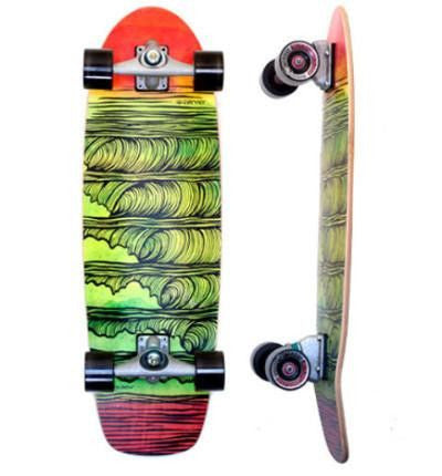 "Carver Skateboards 31.25"" Stacked - Surf' in Monkeys School & Shop"