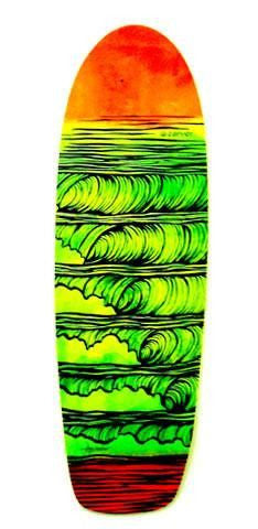 "Carver 31.25"" Stacked Deck - Surf' in Monkeys School & Shop"