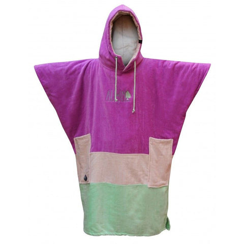 All In V Surf Poncho Bumpy Line - Viola / Off White / Light Green - Surf' in Monkeys School & Shop