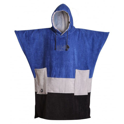 All In V Surf Poncho Bumpy Line - Cobalt / Chiné / Black - Surf' in Monkeys School & Shop