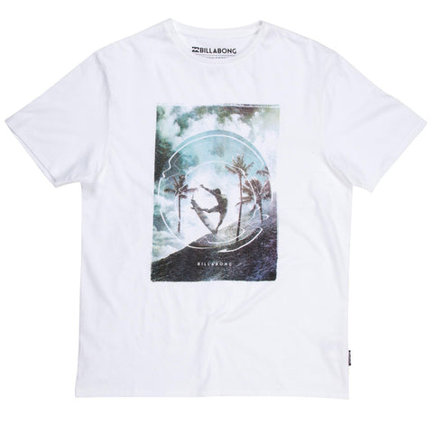 Billabong Elevation T-Shirt - White - Surf' in Monkeys School & Shop