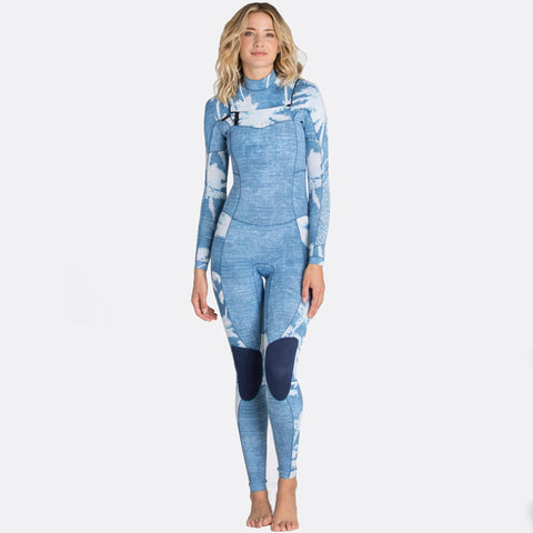 Billabong 4/3 Women Wetsuit Salty Dayz Chest Zip Indigo - Surf' in Monkeys School & Shop