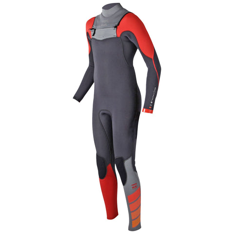 Billabong 4/3 Junior Wetsuit Furnace Carbon Comp Chest Zip Orange - Surf' in Monkeys School & Shop