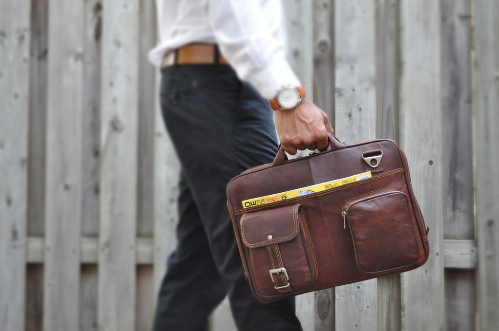 Leather Briefcase by 8.1.2