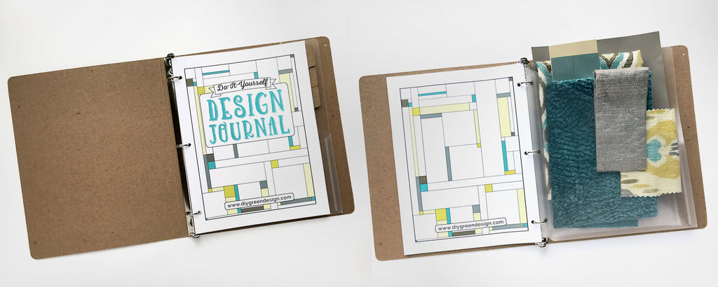 Customize your letter size DIY Design Journal with a 3-ring binder, tabs and folders.