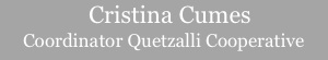 Link to read more about Guatemalan apparel designer and coordinator of women's weaving cooperative, Cristina Cumes
