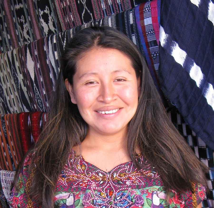 Cristina Cumes, Artisan and Coordinator of Women's Weaving Cooperative headshot for MayaWeavings
