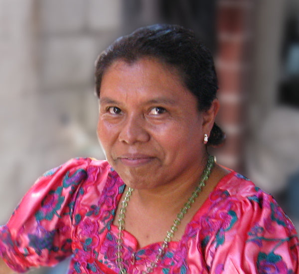 Master Weaver María Florinda Pérez Mendoza member of the Quetzalli women's weaving coorperative headshot for MayaWeavings