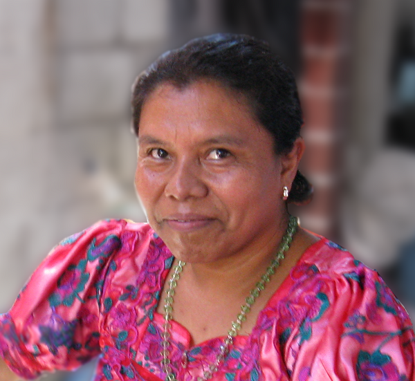Master Backstrap Loom Weaver María Florinda Pérez Mendoza at her home headshot for MayaWeavings