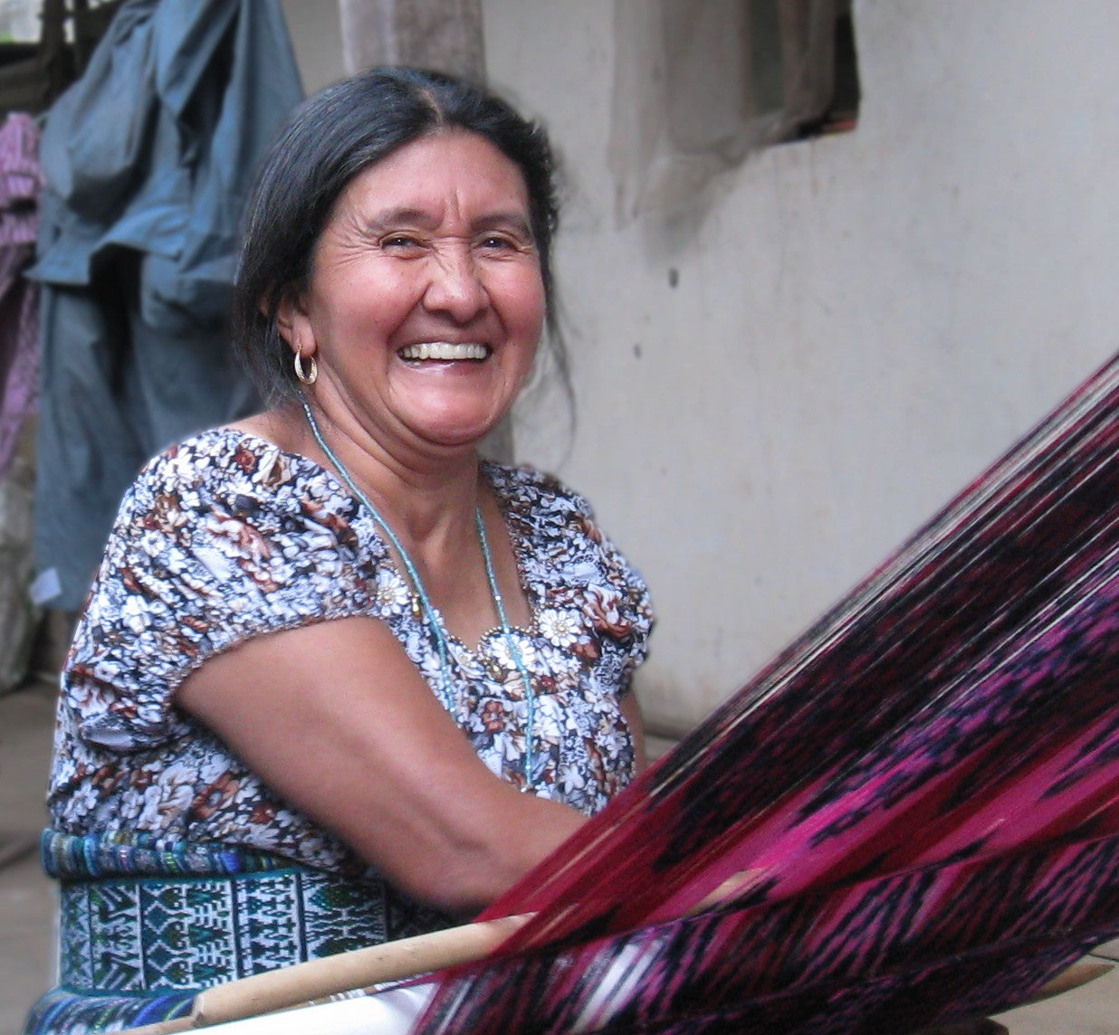 Master Mayan Weaver Julia Francisca head shot for MayaWeavings