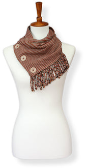 Sienna & Burnt Orange Cotton Cowl