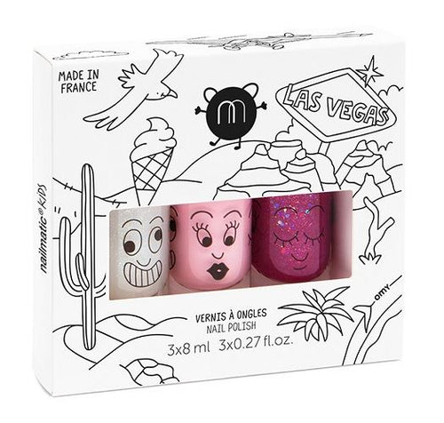 Nailmatic Kids Las Vegas set of 3 nail polishes