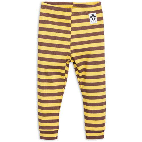 POPS & OZZY | Mini Rodini stripe ribbed leggings front