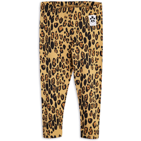 POPS & OZZY | Mini Rodini basic leopard leggings front