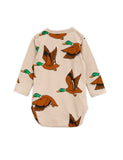Mini Rodini Wild Ducks Bodysuit, back | POPS & OZZY