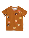 Monkeys T Shirt Mini Rodini POPS & OZZY