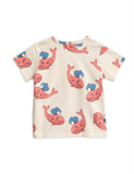 Mini Rodini Pink Whales T Shirt back | POPS & OZZY