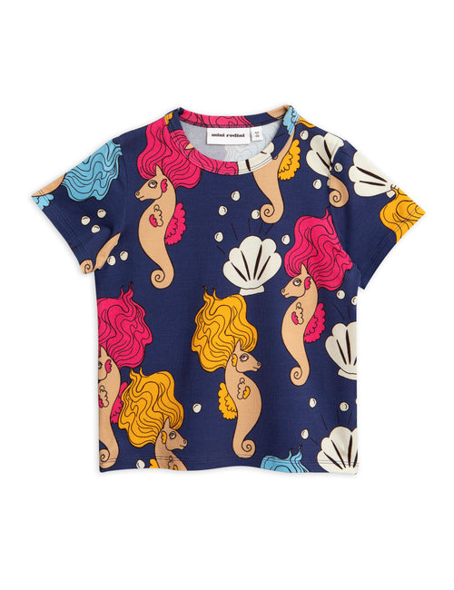 Mini Rodini Blue Seahorses T Shirt | POPS & OZZY