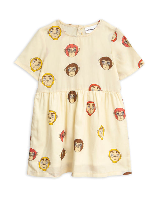 Monkeys Woven Dress Mini Rodini | POPS & OZZY