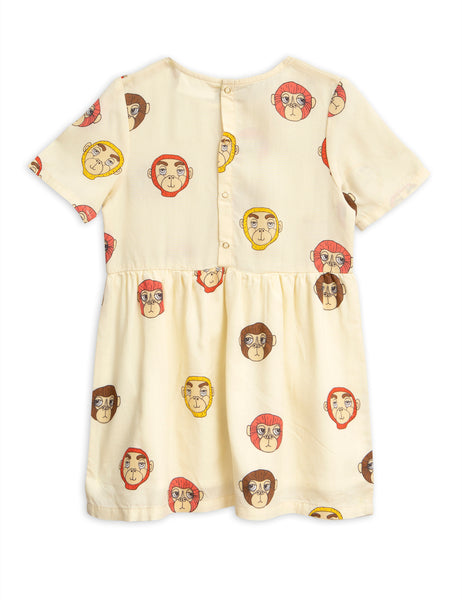 Monkeys Woven Dress back Mini Rodini | POPS & OZZY