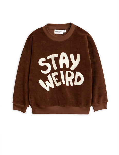 mini-rodini-stay-weird-sweatshirt-brown