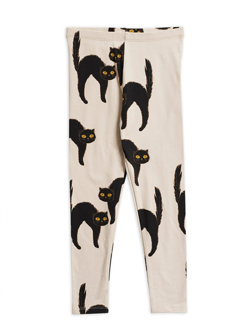 Mini Rodini catz leggings black