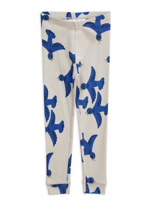 Mini Rodini Flying Birds Leggings blue
