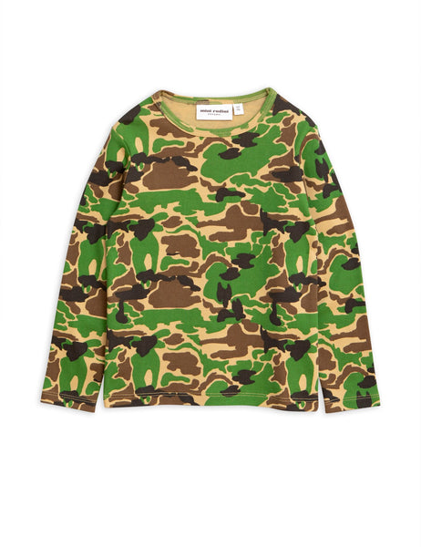 Mini Rodini camo long sleeved t shirt