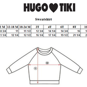 Hugo Loves Tiki size chart