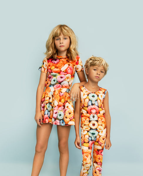Romey Loves Lulu Fruit Cereal Roro Romper models