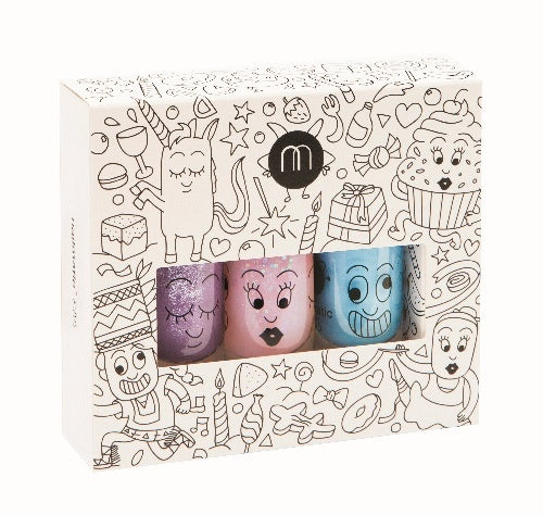 Nailmatic Kids Party Set of 3 Nail Polishes | POPS & OZZY