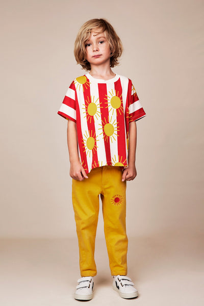 Mini Rodini Sun Stripe T Shirt model