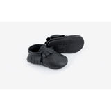 Black Moccasins Amy & Ivor sole Pops & Ozzy