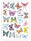 Ducky Street Butterfly Temporary Tattoos