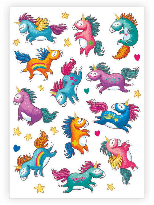 Ducky Street Rainbow Unicorn Temporary Tattoos