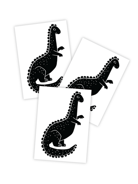 Ducky Street Black Dino Tattoos