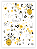 Ducky Street Honey Bee Temporary Tattoo Sheet