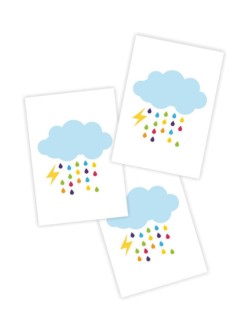 Ducky Street Rainy Cloud Temporary Tattoos
