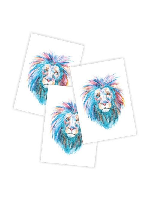 Ducky Street Lion Temporary Tattoos