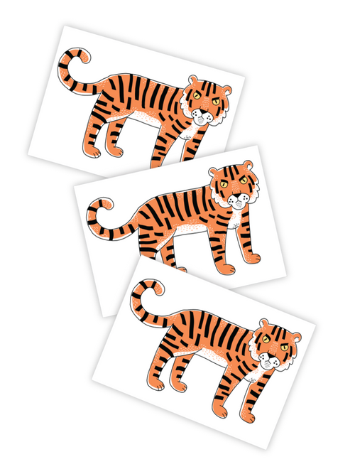 Ducky Street Tigris Tiger Temporary Tattoos