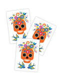 Ducky Street Sugar Skull Temporary Tattoos