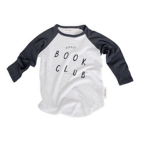 Book Club Long Sleeved Raglan Tee (last one in stock, 6-13M)