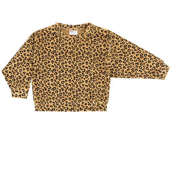 Maed For Mini Yellow Leopard Sweatshirt | POPS & OZZY