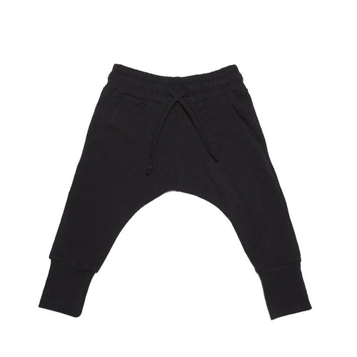 Black Slim Fit Joggers by Mingo Kids