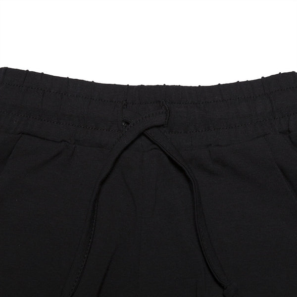 Black Slim Fit Joggers by Mingo Kids - detail