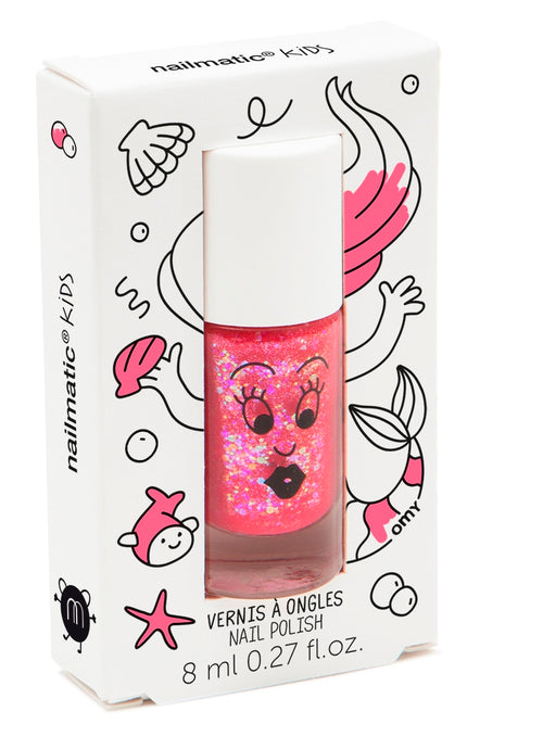 Nailmatic Kids Sissi pink glitter nail varnish | POPS & OZZY